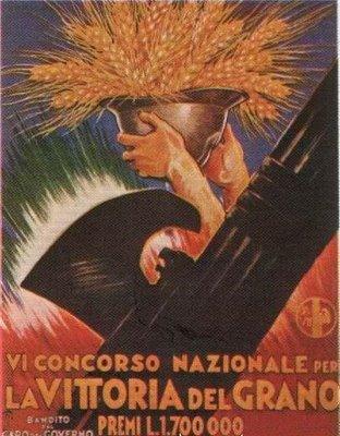 Manifesto del concorso nazione per la vittoria del grano