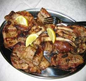 Salsiccia e costolette di suino nero dei Nebrodi arrosto