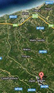 Mappa per raggiungere il Comune di Sinagra