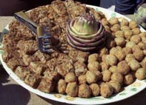 Frittata di carciofi e polpettine con carciofi