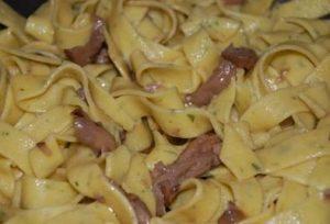 Lasagnette al prezzemolo con funghi porcini