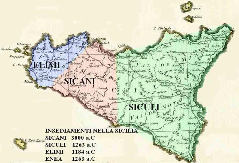 Mappa della sicilia neolitica