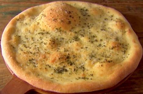 Pizza bianca con l'origano