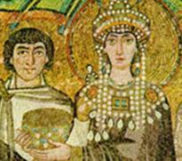 Mosaico rappresentante la figura di Teodorico
