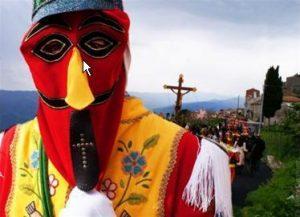 Una maschera da Giudeo per la processione di San Fratello