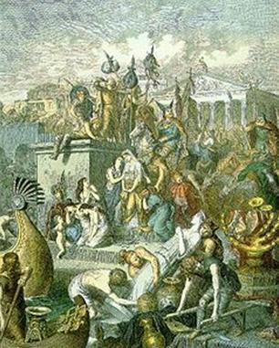 Saccheggio di Roma, di Heinrich Leutemann, del 1870
