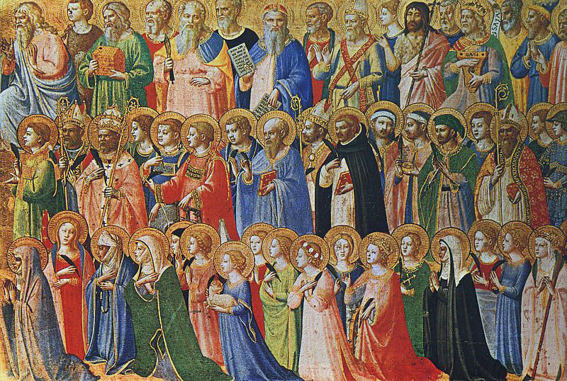 The Forerunners of Christ with Saints and Martyrs (about 1423-24) Tempera on wood, 31,9 x 63,5 cm cm National Gallery, London