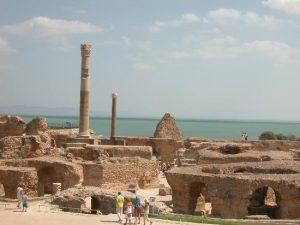 Cartagine, rovine delle terme di antoninus pius