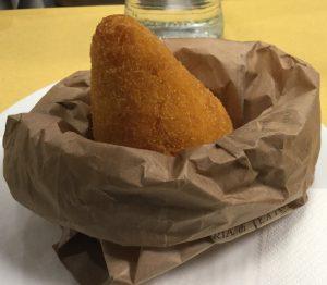 Arancino del Maestra a Eataly dello Chef Peppe Barone