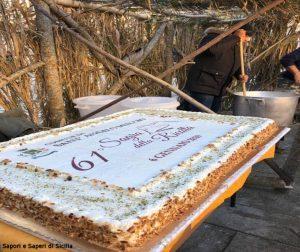 Torta di ricotta della Sagra della Ricotta a Sant'Angelo Muxaro