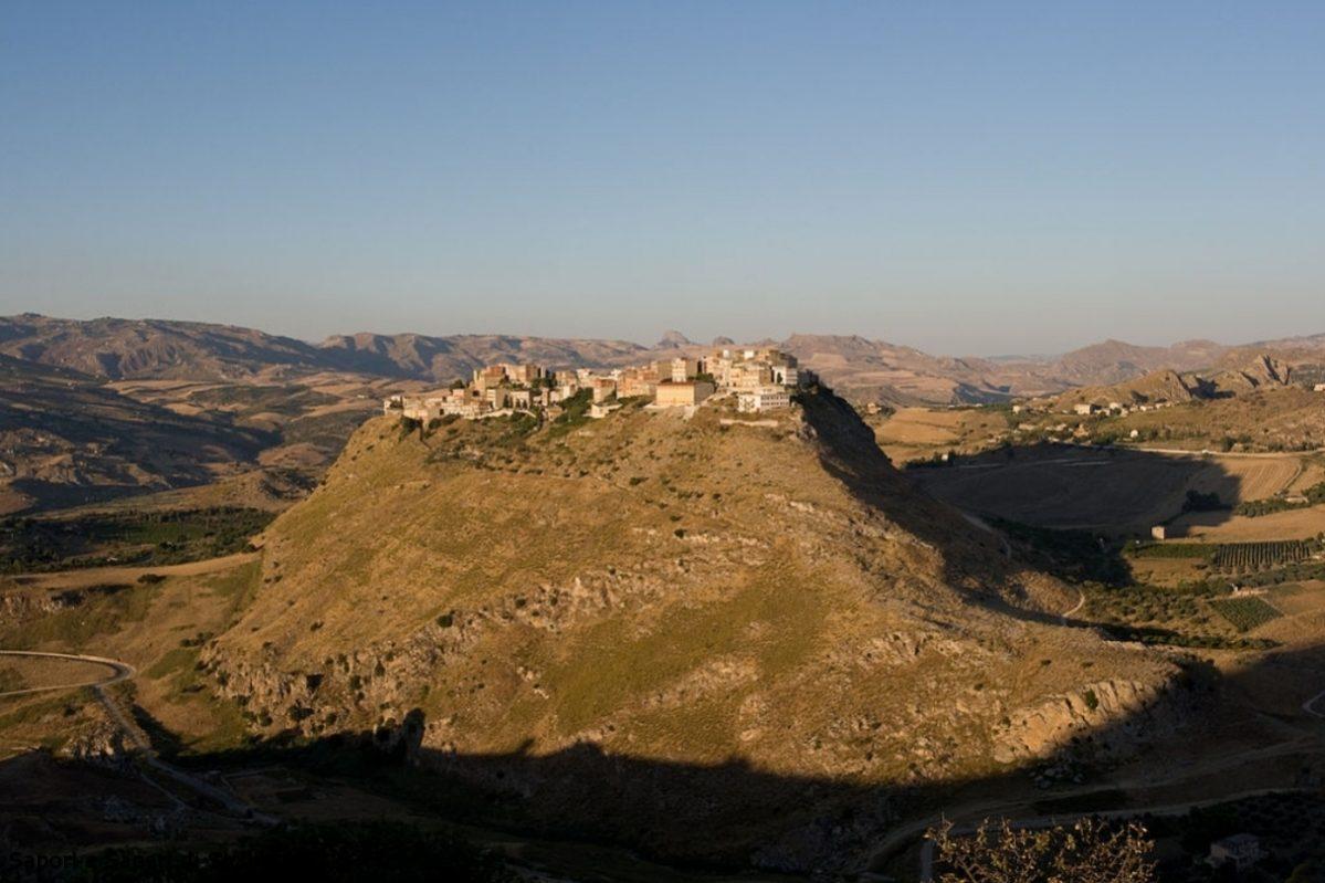 Panorama del Comune di Sant'Angelo Muxaro in provincia di Agrigento