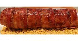 Rotolo di carne con formaggio maiorchino e bacon