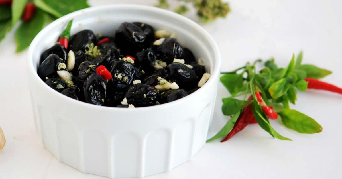 Olive nere arrostite